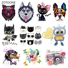 ZOTOONE Unicorn Dog Stripes Iron on Transfer Patches on Clothing Diy Patch Heat Transfer for Clothes for Girl T-shirts Sticker M(China)