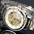 2016 nova vencedor de relógios de luxo homens marca de moda mecânico automático oco relógios Waches relogio masculino