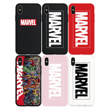 COOL Marvel Logo Comic Heroes Cartoon Brand NEW Soft Case for iPhone XsMax Xs Max XMax Phone Cover Coque Shell Hull Capas Fundas(China)