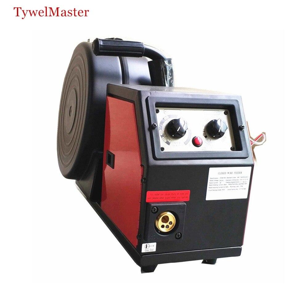 Profissional Sistema Alimentador de Arame 350A DC24v 4 Rolos 0.8-1.6mm Feed Rolls 300 milímetros Spool Controle Remoto de MIG MAG Máquina De Solda