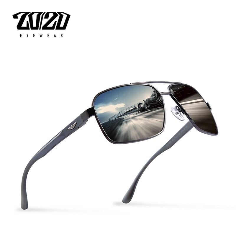 20/20 marca nuevo diseño de aluminio polarizado Gafas de sol hombres de conducción Gafas de sol clásico hombre Gafas PZ7014