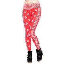 50467e7588672 New 3D Print Women Leggings Red Bandana Sexy Leggins Soft Jeggings Pants Fitness  Legging Punk Rock
