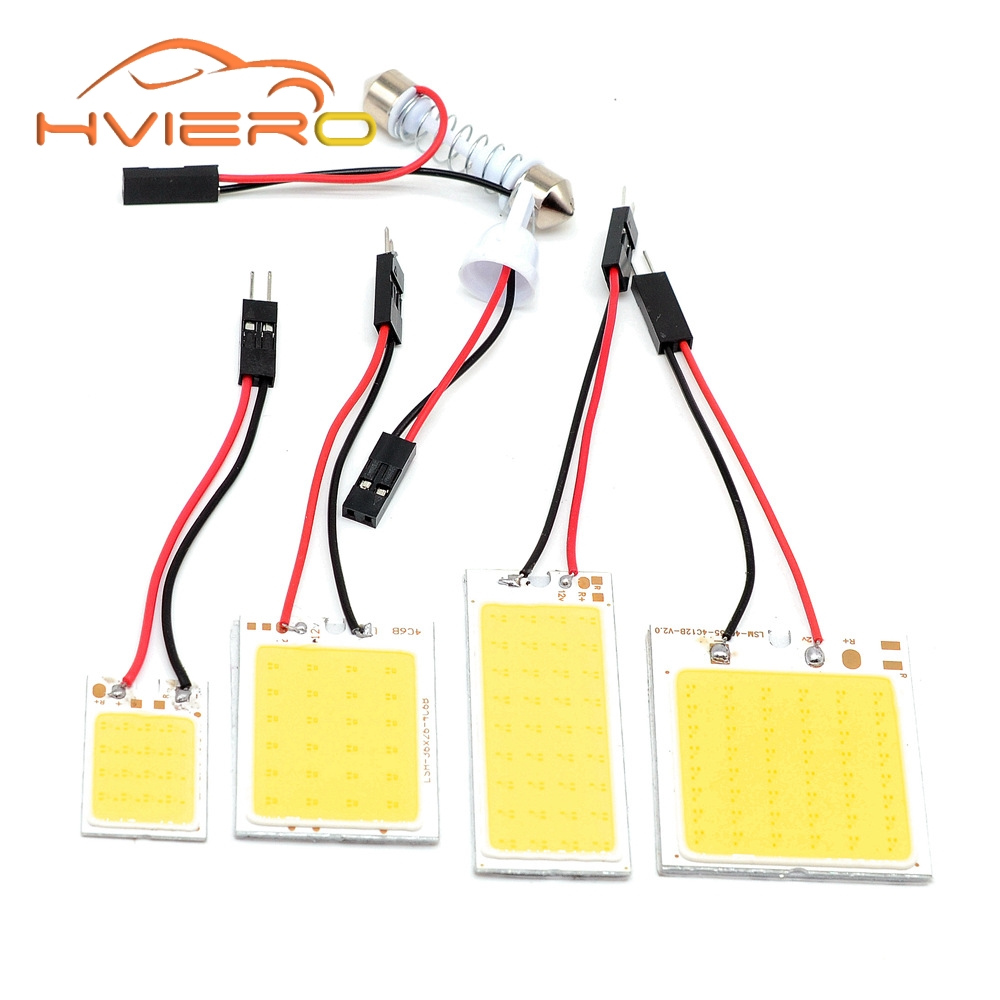 C5W Cob 24 36 48SMD chip White Reading Lamp led T10 Car Led parking Bulb Auto Interior Panel Light Festoon license plate lights buildreamen2 car 5630 chip led bulb white interior led kit package map dome trunk license plate light for ford focus 2008 2011