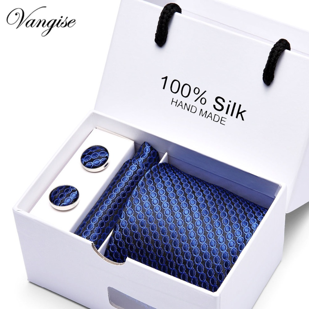 Men Shirt Accesories New High-quality Men's Ties Gravatas Dos Homens Tie Set Ties For Men Solid Neckties Gift Box Packing