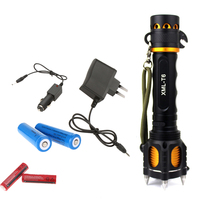 Outdoors Camping New Sale Focus Torch Light New Zoomable 2000Lm T6 Led Flashlight Focus Torch Eu