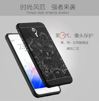 For Meizu Meilan M3 Note 3 5 5 Case Soft Silicon Rubber 3D Carved Dragon Protector