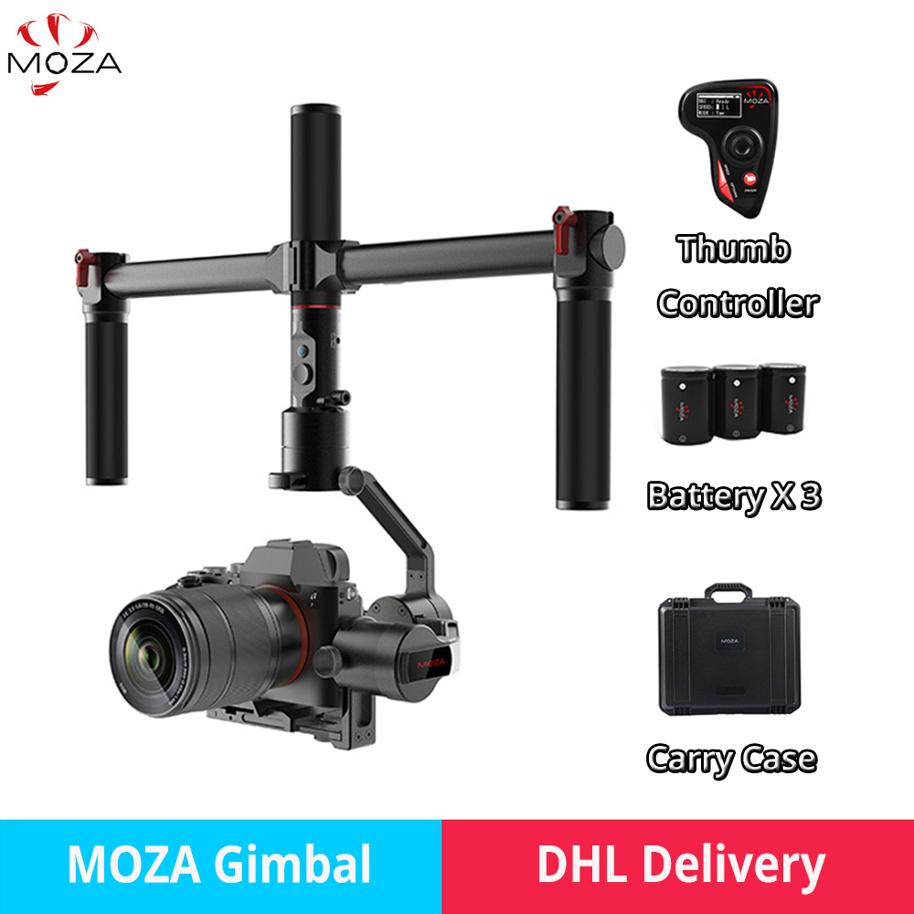 MOZA AirCross 1.8KG bear 3 Axis camera Stabilizer Gimbal with controller option for Sony A7 Panasonic GH5 Mirrorless PK Zhiyun