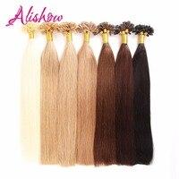 Alishow Hair 1g S 16 24 Remy Nail U Tip Human Hair Extension Bleach Blonde 613