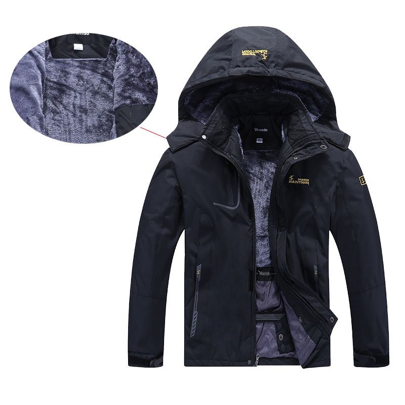 New Men's Winter Inner Fleece Windproof Waterproof Jacket Warm Outdoor Sports Hiking Camping Trekking Skiing Male Jackets Coat(China)