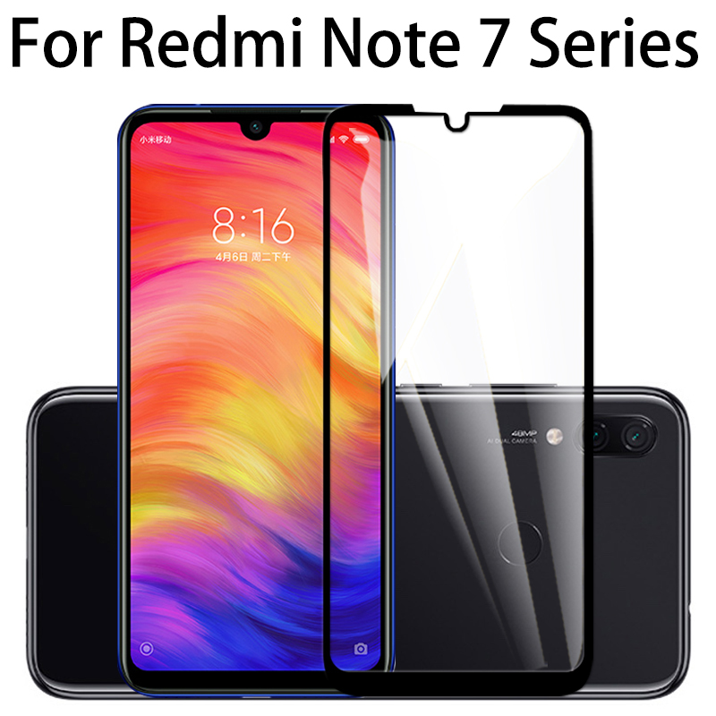 9H Full Cover <font><b>Tempered</b></font> <font><b>Glass</b></font> For <font><b>Xiaomi</b></font> <font><b>Redmi</b></font> Note 7 film Screen Protector For <font><b>Redmi</b></font> Note 5 <font><b>4</b></font> 6 Pro Protective glas xiomi xiami image