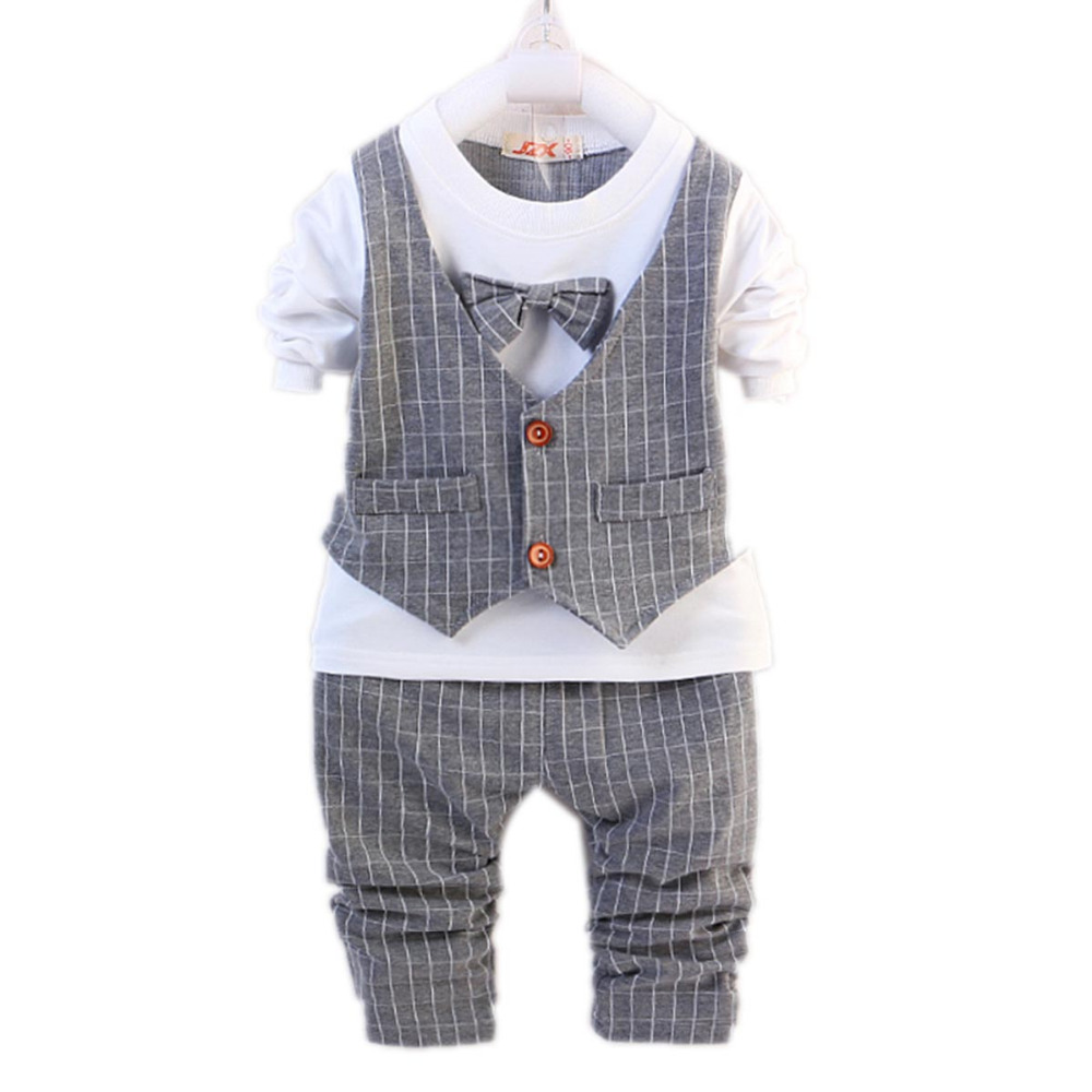 Long Sleeve Vest Shirt Cotton Striped Pants Baby Boy Gentleman Clothing Sets Kids Uniform Clothes for School Birthday Suits blue gentleman boys clothes 3pcs set long sleeve shirt vest pants new style baby boy clothes