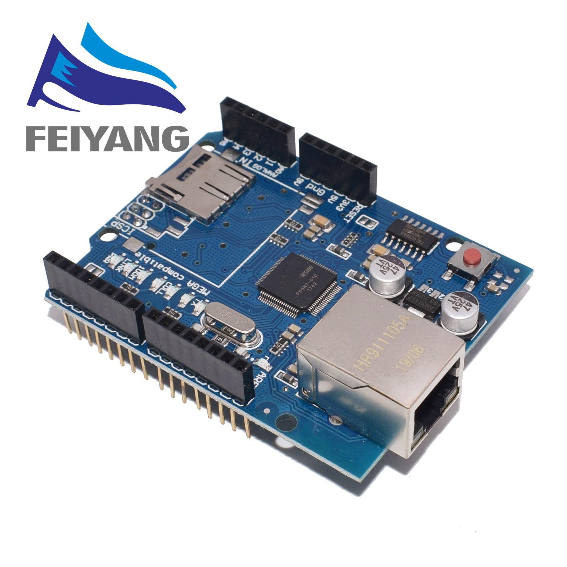 1pcs Shield Ethernet Shield W5100 R3 UNO Mega 2560 1280 328 UNR R3 W5100 Development Board
