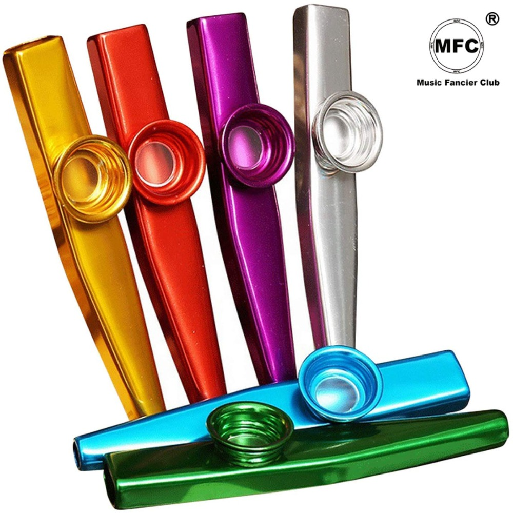 Simple Design Lightweight Kazoo Aluminum Alloy Metal For Guitar Instrument Music Lovers Instrument 4 Colors