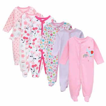 Free shipping 3/4/5/6Pcs/set Cotton baby rompers newborn girl clothes Long Sleeve Jumpsuit roupas infantis menino Overalls - DISCOUNT ITEM  49% OFF All Category