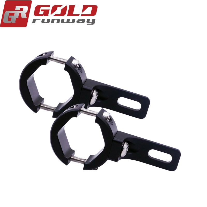 GOLDRUNWAY Motorcycle Headlight mount Bracket Head light font b lamp b font holder Adjustable 24 35
