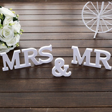 Solid Wooden Letters Mr & Mrs Table Decor Set