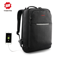 Tigernu Multifunction USB Charging Backpack Men 14 15 6 Inch Laptop Backpacks Silm School Bag Backpack
