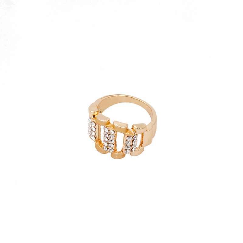 Горячая Распродажа, Модные Золотые Ювелирные наборы, Кристальное ожерелье, кольцо, серьги, очаровательные женские вечерние ювелирные изделия на годовщину