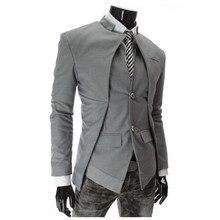 M-xxxl тонкой одна blazer стильный вскользь подходит кнопка куртки моды мужской