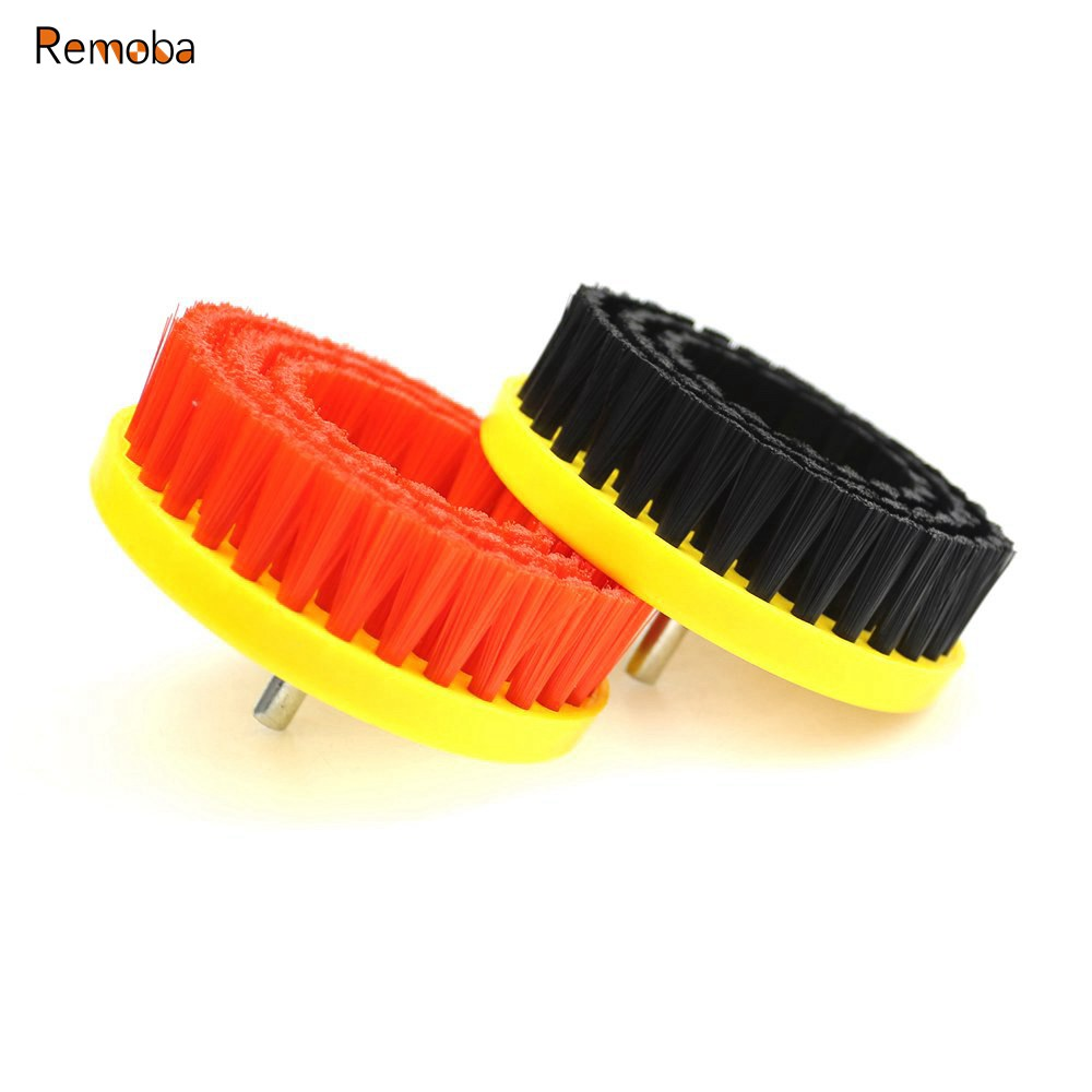 110mm*M10 Drill Power Scrub Clean Brush For Cleaning Leather Plastic Wooden Furniture Floor Car Interiors