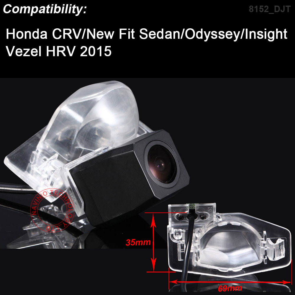 HD 1280*720 Pixels 1000TV lines For Honda CRV New fit Sedan Odyssey Vezel HRV insight car rear view back parking camera reverse