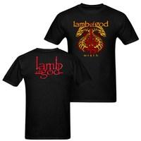 Summer Metal Music GOD TOUR Shirt Front Back Mens Rock Black Cotton O Neck T Shirt