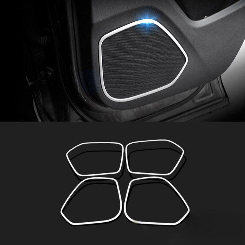 Автомобиль для укладки 4шт/набор из нержавеющей стали двери автомобиля Рог украшения блестками для Audi 2013-2016 автомобиля Q3 аксессуаров украшения блестками