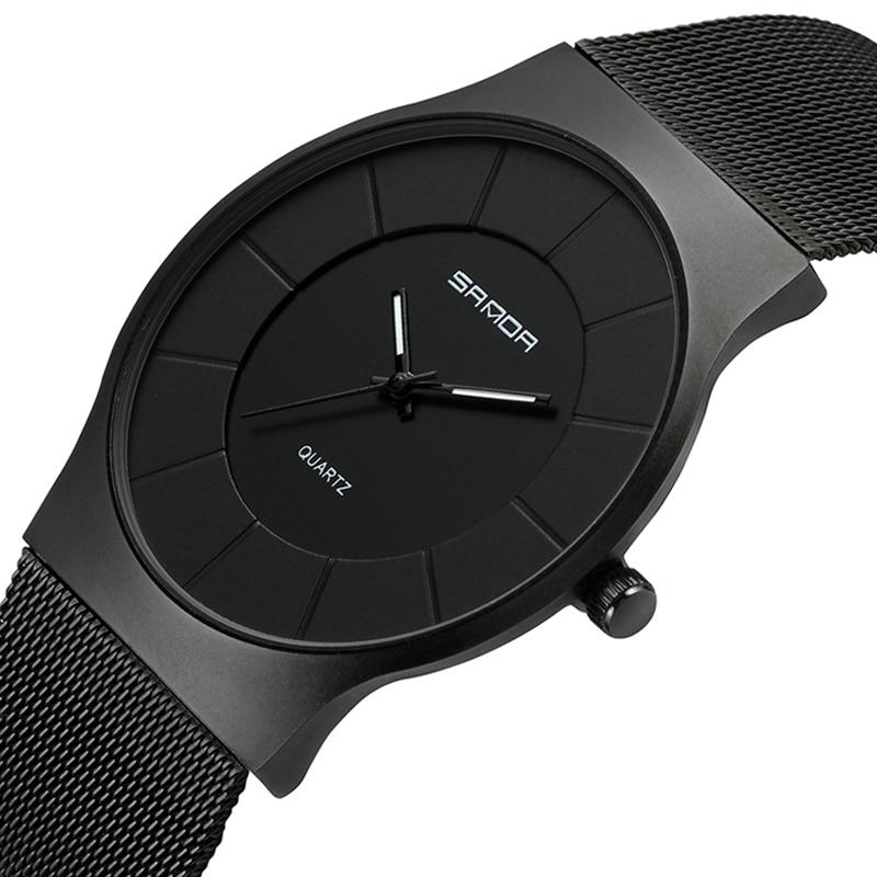 все цены на SANDA Super Slim Men's Watches Top Brand Luxury Rose Gold Mesh Watch Men Fashion Business Wrist watches Relogio Masculino 209