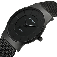 SANDA Super Slim Mens Watches Top Brand Luxury Rose Gold Mesh Men Watch Fashion Business Male Wristwatches Relogio Masculino 209