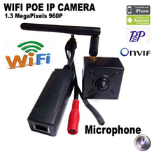 Audio 960P MINI POE IP Camera wifi IP camera POE camera Mini CCTV Securiy Camera Metal Housing indoor home surveillance