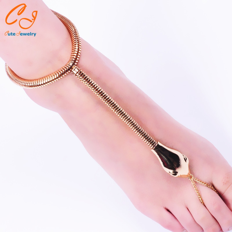 Fashion and personality serpentine environmental alloy anklets of foreign trade Speed sell through selling factory direct sale