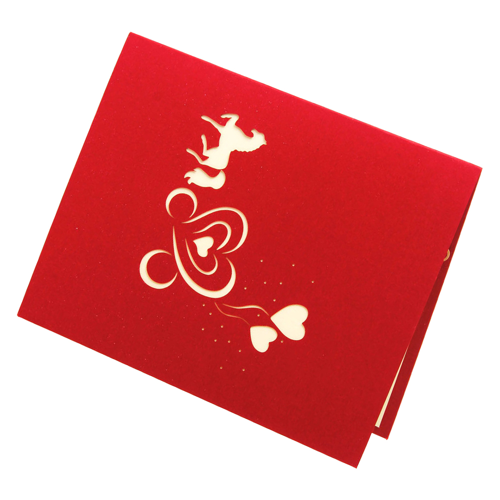 Perfect-Wedding invitations love carriage 3D laser cut paper cutting Greeting Pop Up Kirigami Card Custom postcards Wishes Gif