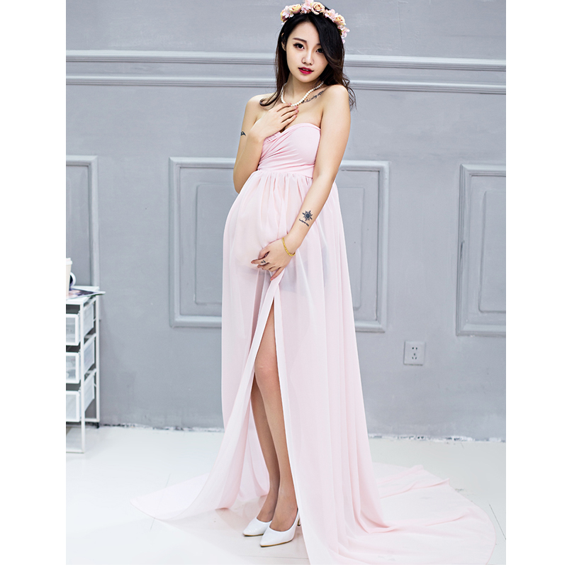 Chiffon maternity dresses photography props party homecoming ladies ...