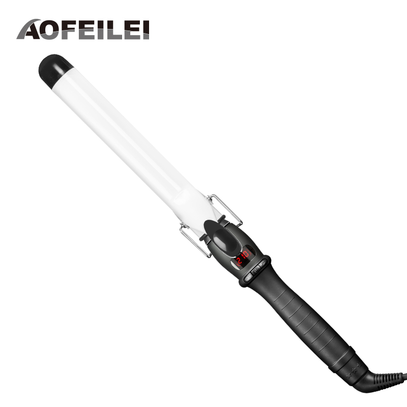 2018 New Rushed Professional Hair Curling Iron Ceramic Electric Curler Waver Curlers Rollers Wand Aofeilei Styler Styling Tools professional hair waver wave curler titanium ceramic hair curling iron 3 barrel clamp wave curler rollers styling tools