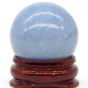 Натуральный Синий ангельский шар, натуральная минеральная кварцевая Сфера, ручной массаж, хрустальный шар, исцеление, фэн-шуй, аксессуары д...