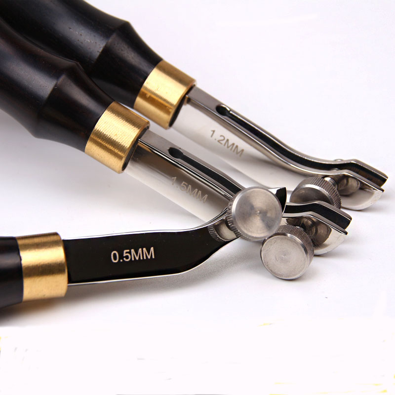 Leather Edge Line Manual DIY Adjustable Stainless Steel Leather Edge Craft Tools Leather Working Punching Tools