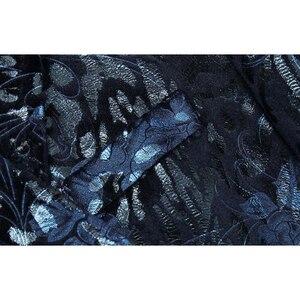 Image 4 - Shenrun Männer Floral Blazer Navy Blau Wein Roten Anzug Jacke Slim Fit Blazer Sänger Jacken Host Bühne Kostüm Musiker Größe m 6XL