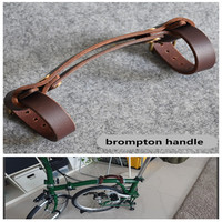 Mango de cuero plegable de 2 colores para bicicleta brompton carry ith cinta para marco filter mango portátil Marco de uso de bicicleta plegable dentro de 5cm