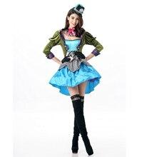 Форма Магическая шляпа костюм безумного Шляпника Хэллоуина макияж вечерние производительность Алиса взрослых Для женщин