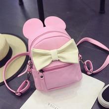 New Candy Color Mini Backpack For Girls Cute Animal Ear Bag High Quality Women Leather Backpack PU Children Shoulder Bag Mochila