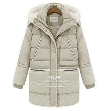 Warm down parkas winter Women long coat Overcoat Jacket