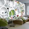 Custom Modern Minimalist Mural Photo Wallpaper White Ring Cycle Fruits Wall Mural Abstract Art Wall Paper