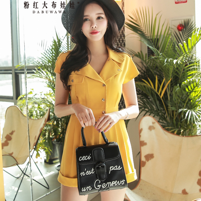 original 2018 brand combinaison femme new korean handsome solid color turn down collar fashion summer jumpsuit women wholesale