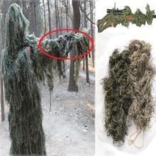 Охотничий 3D камуфляж винтовка пистолет обёрточная бумага чехол для Ghillie Снайпер пейнтбол костюм