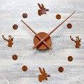 Настенные часы 3D текстура акриловый материал DIY настенные часы Креативный Европейский стиль гостиная настенные часы бесшумные