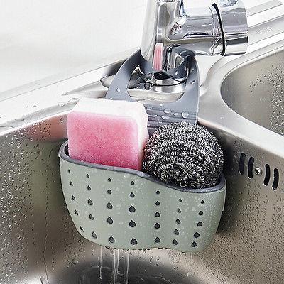 2017 New Useful Suction Cup Sink Shelf Soap Sponge Drain Rack Kitchen Sucker Storage