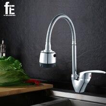 FiE küchenarmatur Mischer Kaltem und Heißer Küchenarmatur Einlochmontage Wasserhahn Zink-legierung