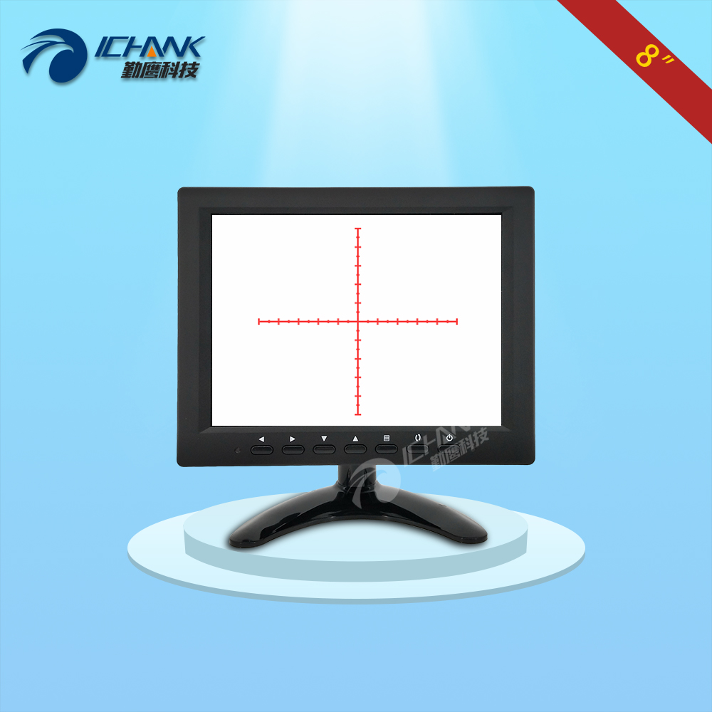 ZB080JN-S12/8 inch 800x600 Portable Industrial PCB Board Microscope Cross Scale Line Movable LCD Monitor Display With AV BNC VGA