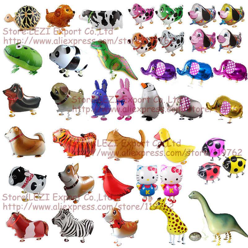 Darmowa wysyłka chodzące zwierzątko domowe balon z dekoracją zwierzęcą dekoracja urodzinowa balony zabawki dla dzieci gorąca sprzedaż rosja stany zjednoczone