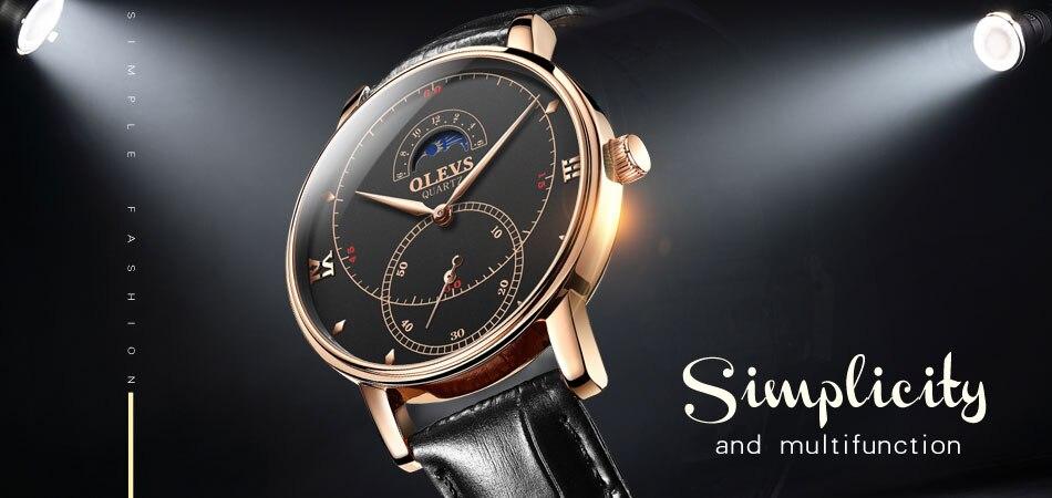2018 OLEVS Luxury Brand Watch Men's Analog Quartz Auto Date Watches Man Waterproof Clock Men Sport Stainless Steel Wrist Watch 4